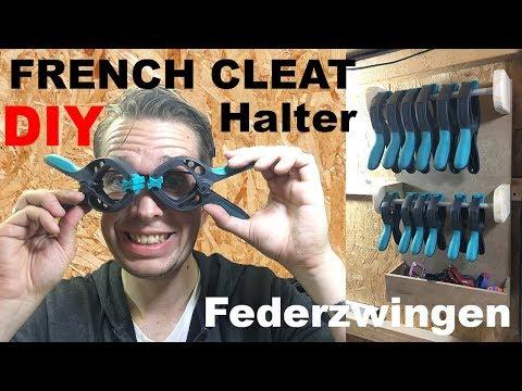 French Cleat System Wolfcraft Federzwingen Halter selber machen Werkzeughalter Werkstatthelfer bauen