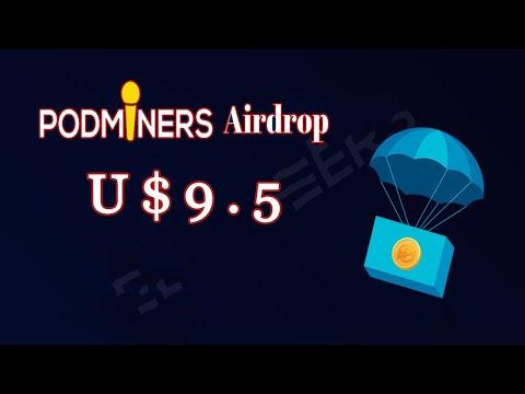 Ganhe U$9.5 Dólares no Airdrop Bot PodMiners . Muito fácil !!!