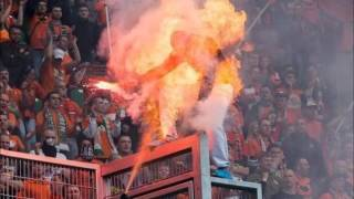 preview picture of video 'Watch Polish Football Fan Waving Flare Is Turned Into A Human Fireball'