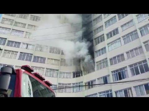 Incêndio em Prédio de Peruíbe afeta moradores .