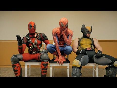 Superhrdinská čekárna: Deadpool, Spider-Man a Wolverine
