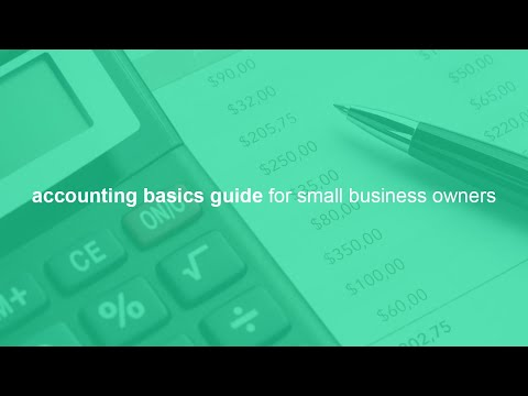 accounting basics guide for small business owners - YouTube