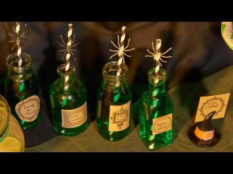 Receita de cocktail para Halloween verde