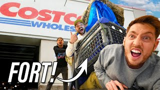 EPIC SHOPPING CART FORT!