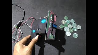 How To Setup Multi Coin Acceptor JY-923   Cara Setting Multi Coin Acceptor JY-923
