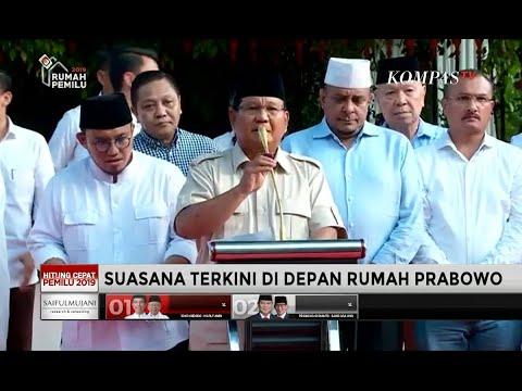 """FULL - Keterangan Pers Prabowo Soal Kemenangannya dari Hasil """"Exit Poll"""" & """"Quick Count"""""""