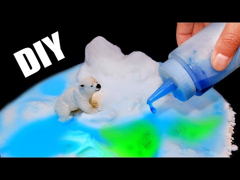 DIY全球变暖实验!自制人造雪!DIY global warming experiments