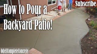 How To Pour A Backyard Concrete Patio & Fix Old Lose Brick Borders