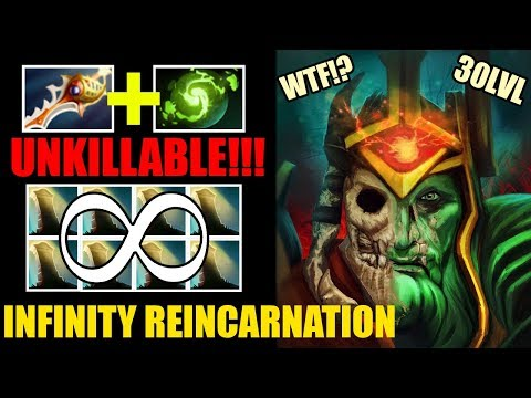 INFINITY REINCARNATION?! 30LVL Wraith King Refresher Orb + Aghanim Scepter Epic Gameplay 7.25 Dota 2