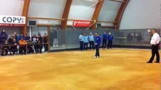 preview picture of video 'Bocce: Masera-Quadrifoglio spareggio ai play off Buttrio Udine 17 marzo 2012.mov'