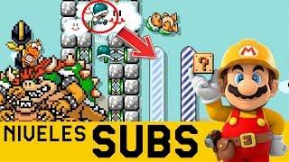 Descubro un ERROR Supremo en la MATRIX 😨 - Niveles de Suscriptores #37   Mario Maker - ZetaSSJ