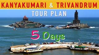 Kanyakumari and Trivandrum Tour Plan