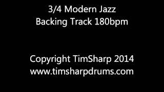 3/4 Modern Jazz Drumless Backing Track Playalong