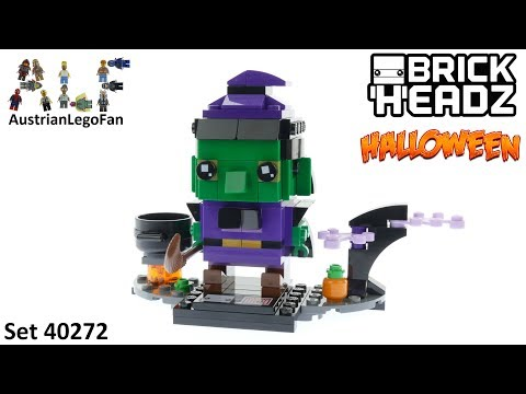 Vidéo LEGO BrickHeadz 40272 : La sorcière d'Halloween