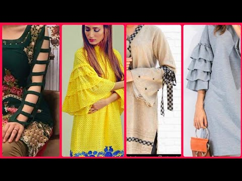 New trendy useful sleeves designs for girls 2019 Latest summer sleeves kurtis and frocks