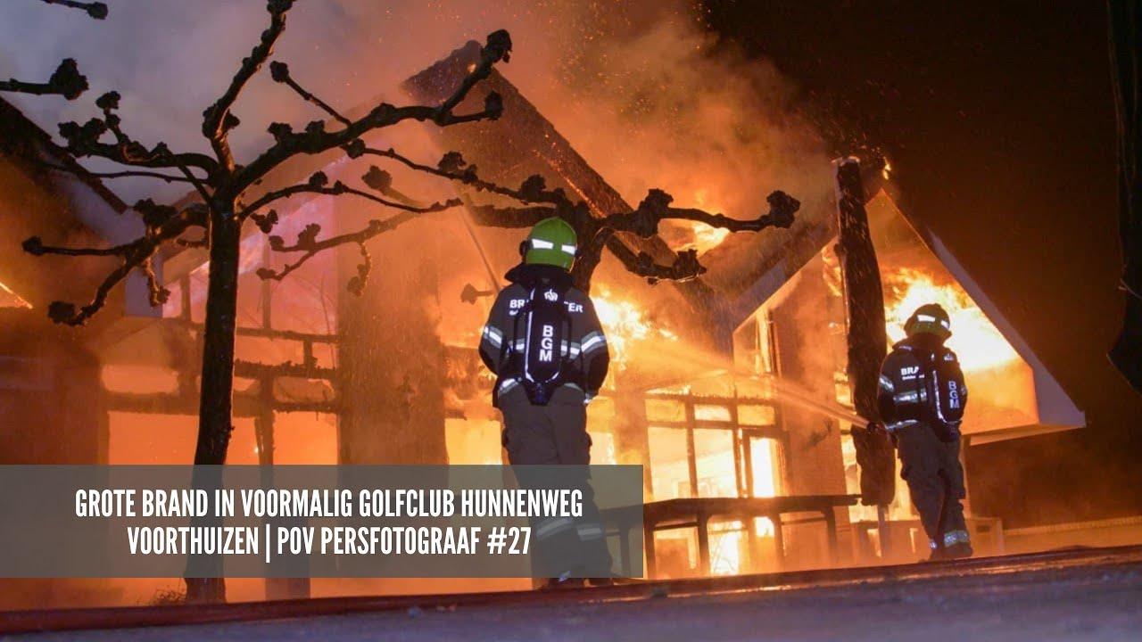 grote brand in VOORMALIG golfclub Hunnenweg Voorthuizen | POV Persfotograaf #27