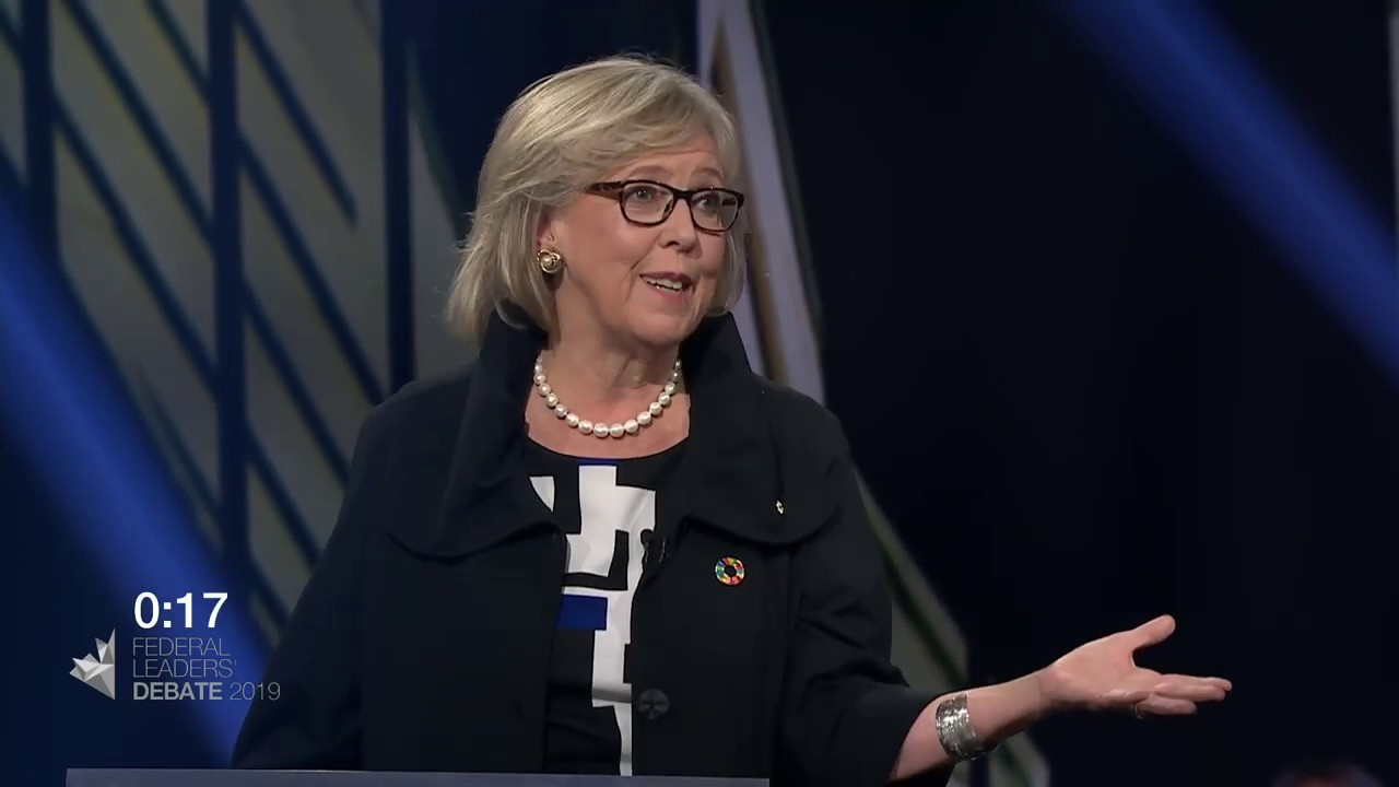 Elizabeth May debates household debt with Jagmeet Singh
