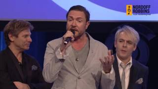 Duran Duran collect their Lifetime Achievement Award at the O2 Silver Clef Awards 2015