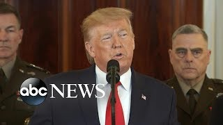 trump addresses the nation following irans missile strikes on us forces in iraq abc news