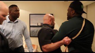 HEAVYWEIGHT BEEF! - DERECK CHISORA & DILLIAN WHYTE CLASH AT HOTEL AS PAIR NEARLY COME TO BLOWS !!!!