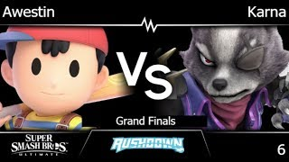 Rushdown 6 - FX | Awestin (Ness) vs Karna (Wolf) Grand Finals - SSBU