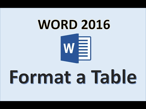 Word 2016 – Formatting Tables – How To Format a Table in Microsoft Office 365 – Make Tables Tutorial