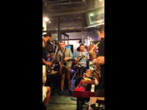 Live Performance from Jazz Sushi / Sax Society in Bangkok, Thailand with Jafar and Koh the saxman