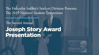 Click to play: Banquet Dinner & Presentation of the Annual Joseph Story Award