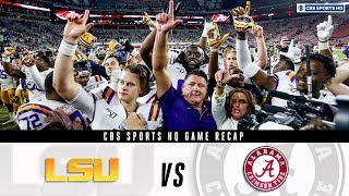 LSU vs. Alabama game recap: Can Alabama still make the playoff? | CBS Sports HQ