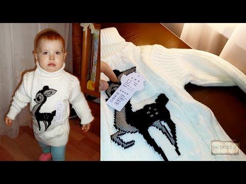 Качественный детский тёплый свитер из Китая для девочки (aliexpress)