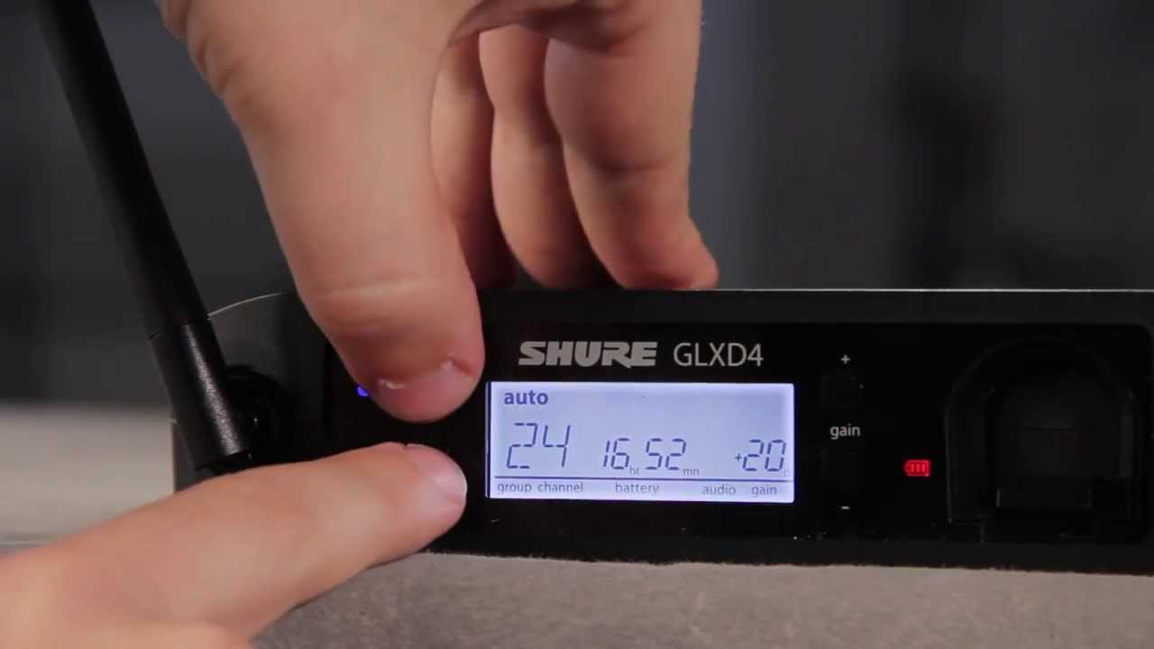 Shure GLX-D Digital Wireless System: Locking the System