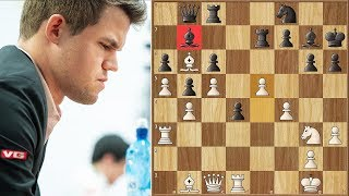 Pretending to Be A Pawn | Carlsen vs Amonatov | World Rapid Championship (2018)