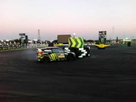 SLIDES AND SOUND: Kenneth 'Ken' Block Burnout At Gymkhana 2017 Carnival City