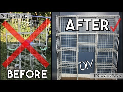 Inexpensive Wire Cube Shelf Makeover! How to Transform Your Cheap, Flimsy Shelves