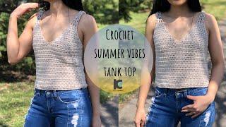 Crochet Summer Vibes Tank Top