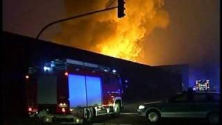 Großbrand einer Textilfirma in Bocholt