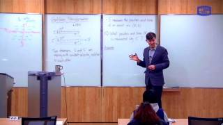 These videos are taken from a lecture course on Modern Physics I taught at the Catholic University of Korea in Spring 2016.In this class I define the Galilean transformation of coordinates, upon which the Aether theory (and all of Newtonian physics) was based.