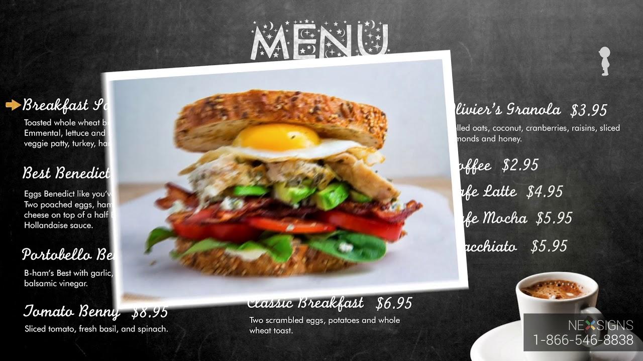 Cafe Digital Menu Board