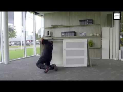 SWAN Slide & Go montage met melamine kast ombouw luxe