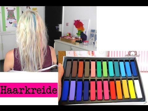 Haare färben mit Haarkreide / Kreide in verschiedene Farben im Test / DIY Inspiration
