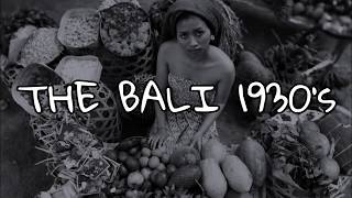 Bali 1930's for Private Group.