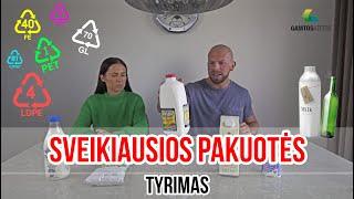 GERIAUSIOS PIENO PAKUOTĖS TYRIMAS