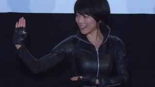 釈由美子、ムチムチのレザースーツで「古武道の型」披露!映画「KIRI-『職業・殺し屋。』外伝-」初日舞台あいさつ2#YumikoShaku#Kiri