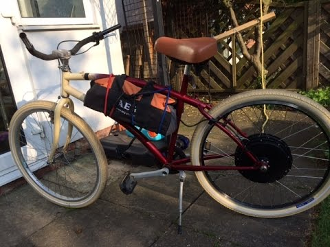 Test ride of 48v 1000w e-bike BEACH CRUISER !!