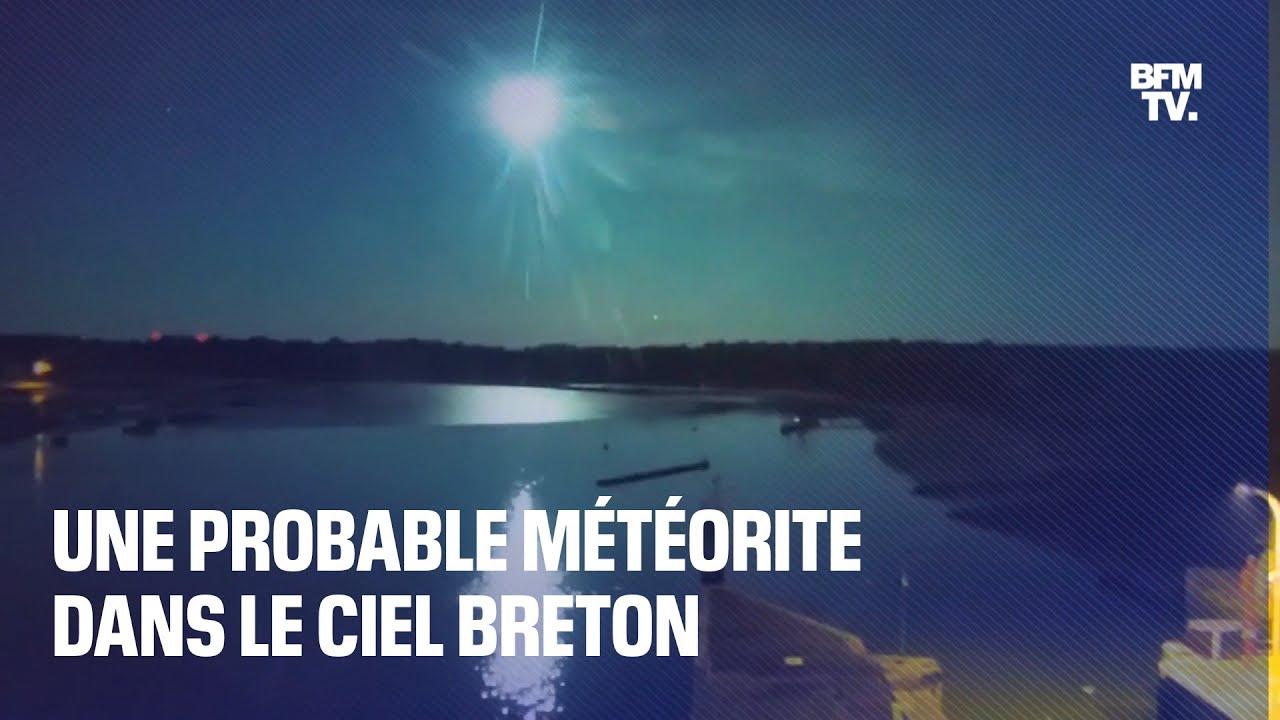 Une probable météorite traverse le ciel breton