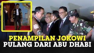 https://medan.tribunnews.com/2020/01/14/anies-baswedan-tertawa-lihat-penampilan-presiden-jokowi-setelah-pulang-dari-abu-dhabi  TRIBUN-MEDAN.COM - Setelah menempuh penerbangan selama 8 jam dari Terminal Kepresidenan Bandara Internasional Abu Dhabi, Pesawat Kepresidenan Indonesia-1 yang membawa Presiden Joko Widodo dan rombongan tiba di Pangkalan TNI AU Halim Perdanakusuma, Jakarta pada Selasa, 14 Januari pukul 00.43 WIB.