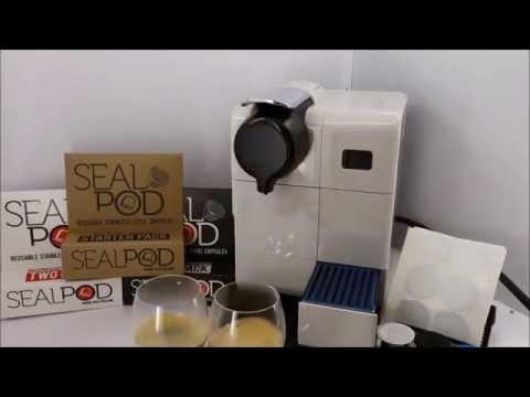 Lattissima Touch brewing Sidamo with Sealpod and Nespresso Dulsao capsule