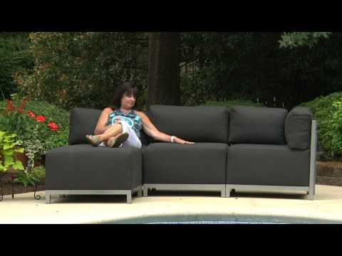 Video for Axis Sterling Sand Sectional Sofa with Titanium Frame
