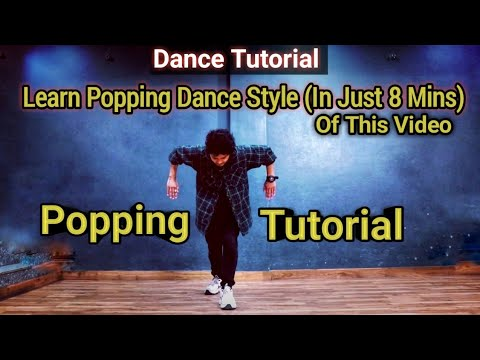Learn Popping Dance Style (Very Easily)  || Dance Tutorial || Anoop Parmar