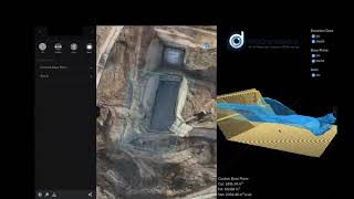 Visualise and calculate earthworks design vs as build from drone survey